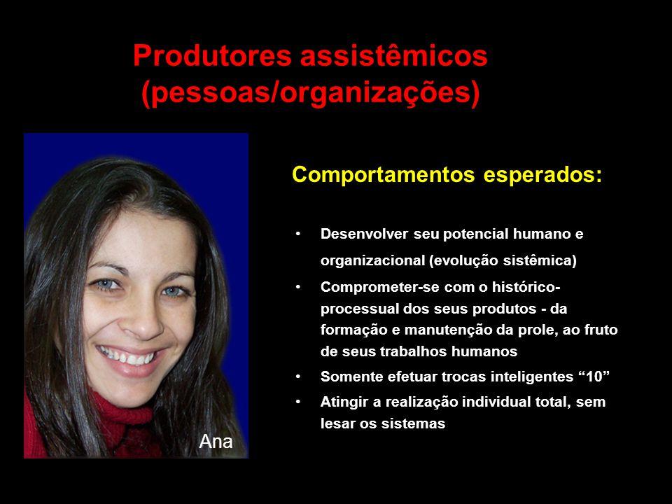 Produtores assistêmicos (pessoas/organizações) Desenvolver seu potencial humano e organizacional (evolução sistêmica) Comprometer-se com o histórico-