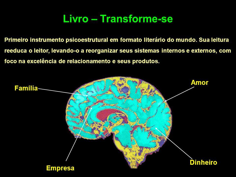 Livro – Transforme-se Primeiro instrumento psicoestrutural em formato literário do mundo. Sua leitura reeduca o leitor, levando-o a reorganizar seus s