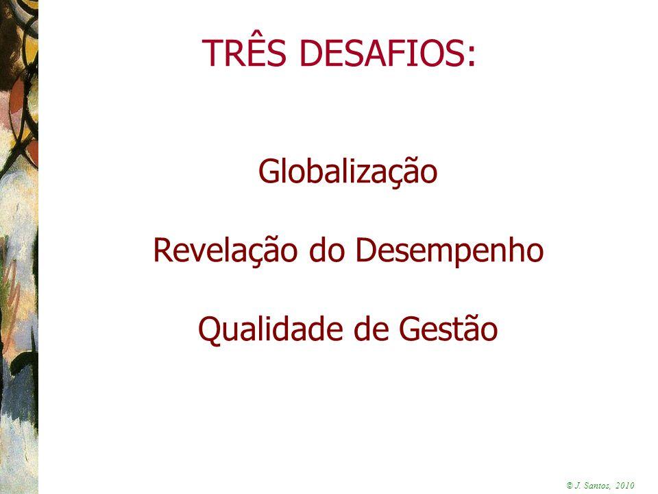 © J. Santos, 2010 Globalização Revelação do Desempenho Qualidade de Gestão TRÊS DESAFIOS: