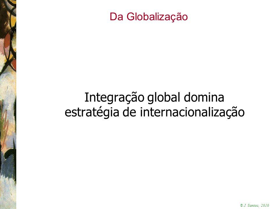 © J. Santos, 2010 Da Globalização Integração global domina estratégia de internacionalização
