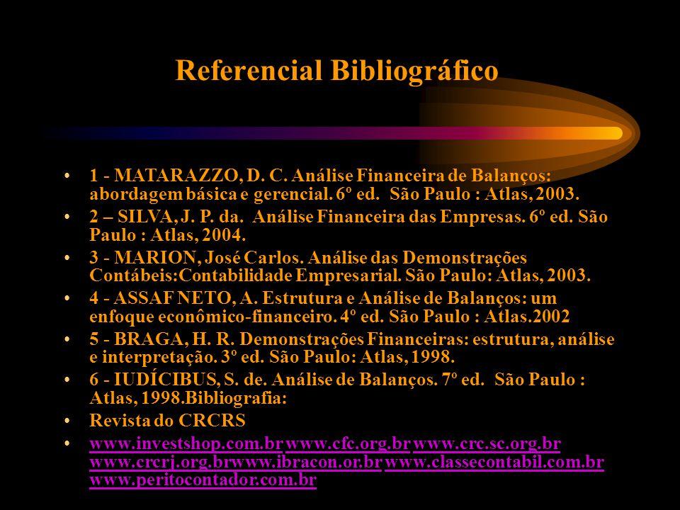 Referencial Bibliográfico 1 - MATARAZZO, D. C.