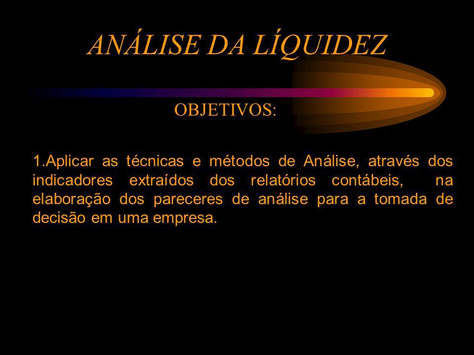 ANÁLISE DA LIQUIDEZ 2.