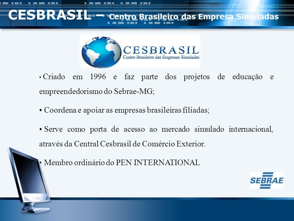 BANCO CESBRASIL - Funciona como uma agência central de clientes, pessoa física e pessoa jurídica, registrando as atividades financeiras.