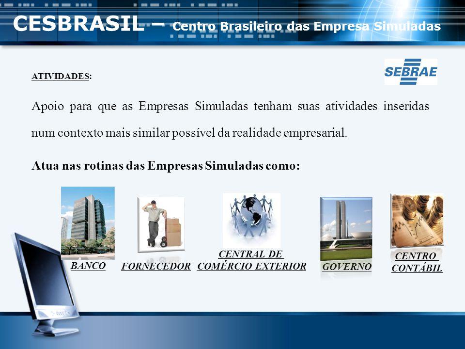ESTRUTURA DAS EMPRESAS SIMULADAS Departamentos:   Recursos Humanos   Marketing   Financeiro   Compras   Vendas   Logística