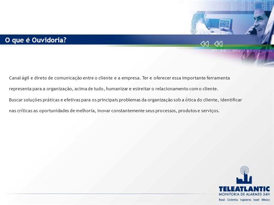 Canal ágil e direto de comunicação entre o cliente e a empresa.