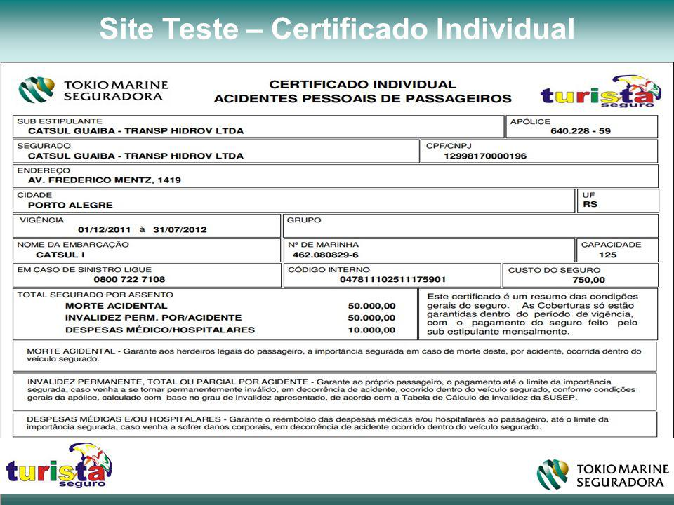 Site Teste – Certificado Individual