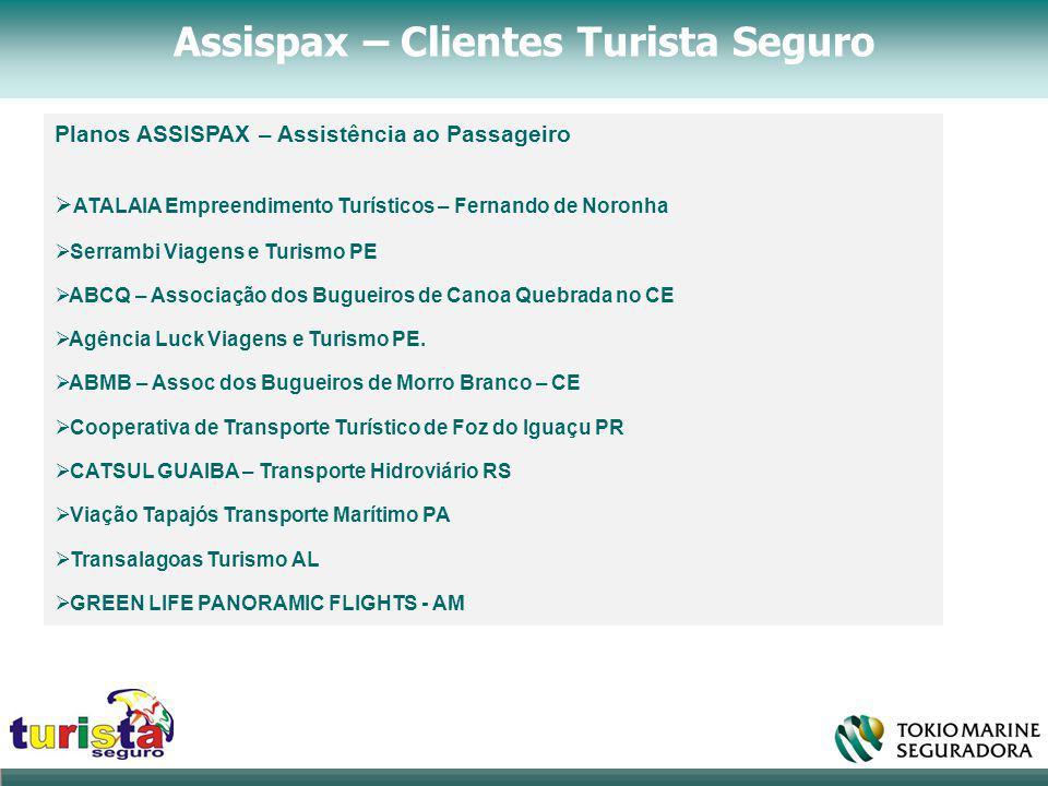 Assispax – Clientes Turista Seguro Planos ASSISPAX – Assistência ao Passageiro  ATALAIA Empreendimento Turísticos – Fernando de Noronha  Serrambi Vi