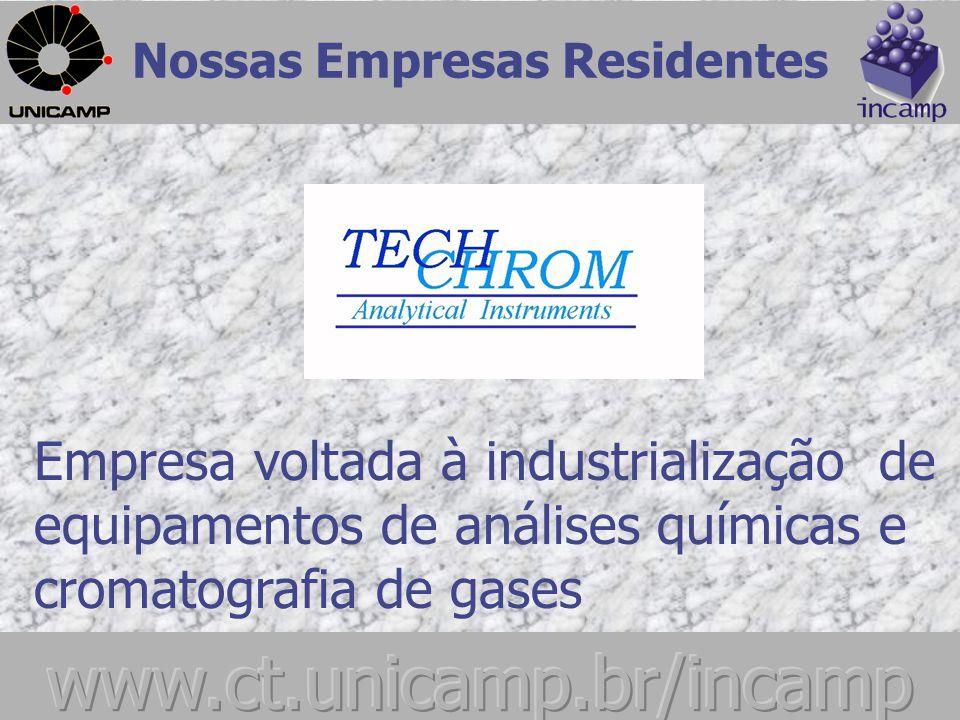Nossas Empresas Residentes Empresa de telecomunicação voltada ao desenvolvimento de sistemas e projetos de redes de simulação