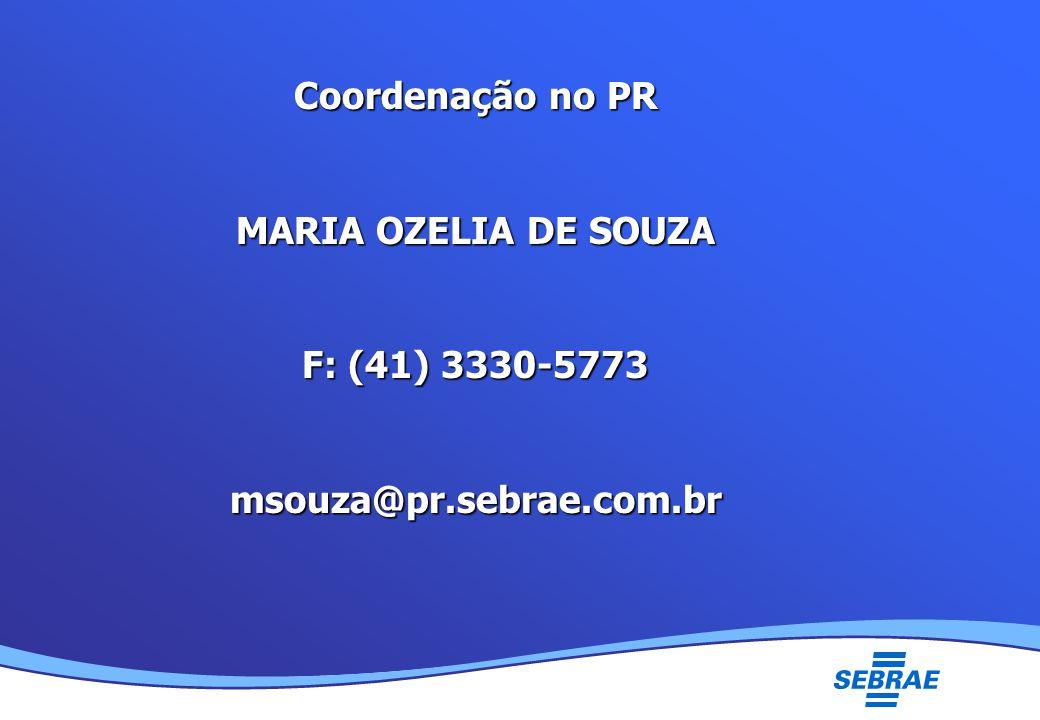 Lei Geral da Micro e Pequena Empresa UMC Coordenação no PR MARIA OZELIA DE SOUZA F: (41) 3330-5773 msouza@pr.sebrae.com.br