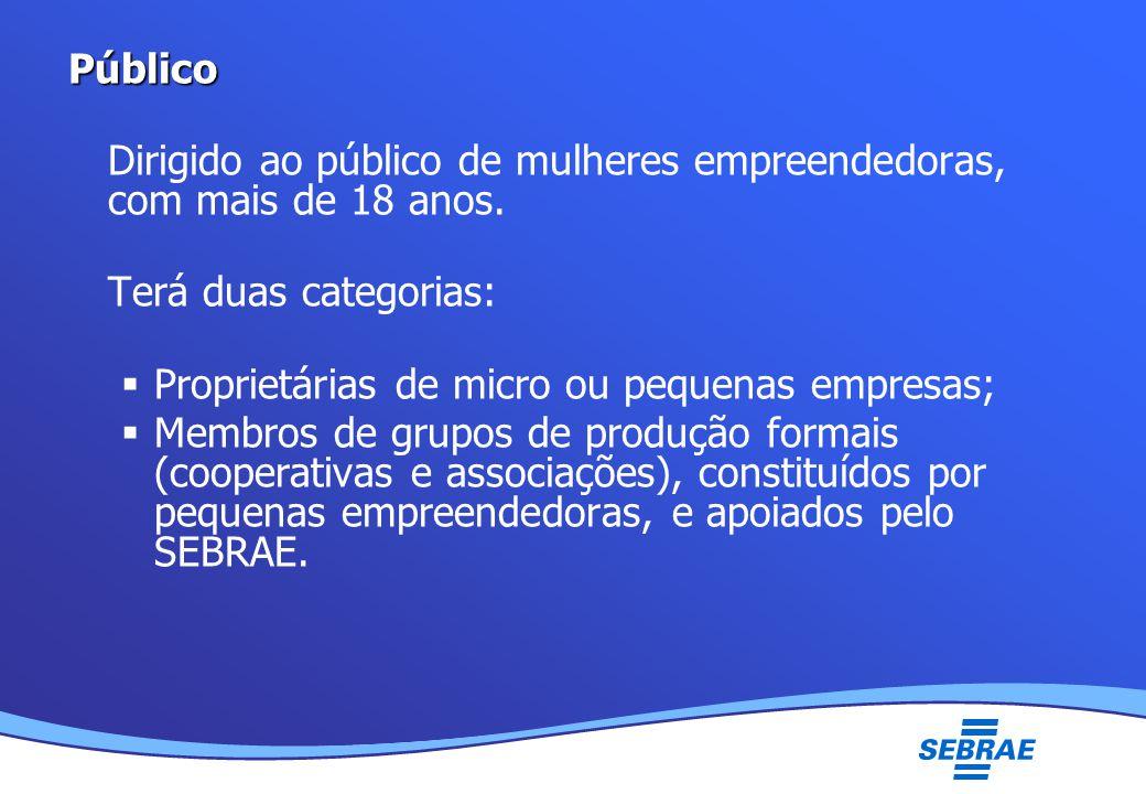 Lei Geral da Micro e Pequena Empresa UMC Público Dirigido ao público de mulheres empreendedoras, com mais de 18 anos.