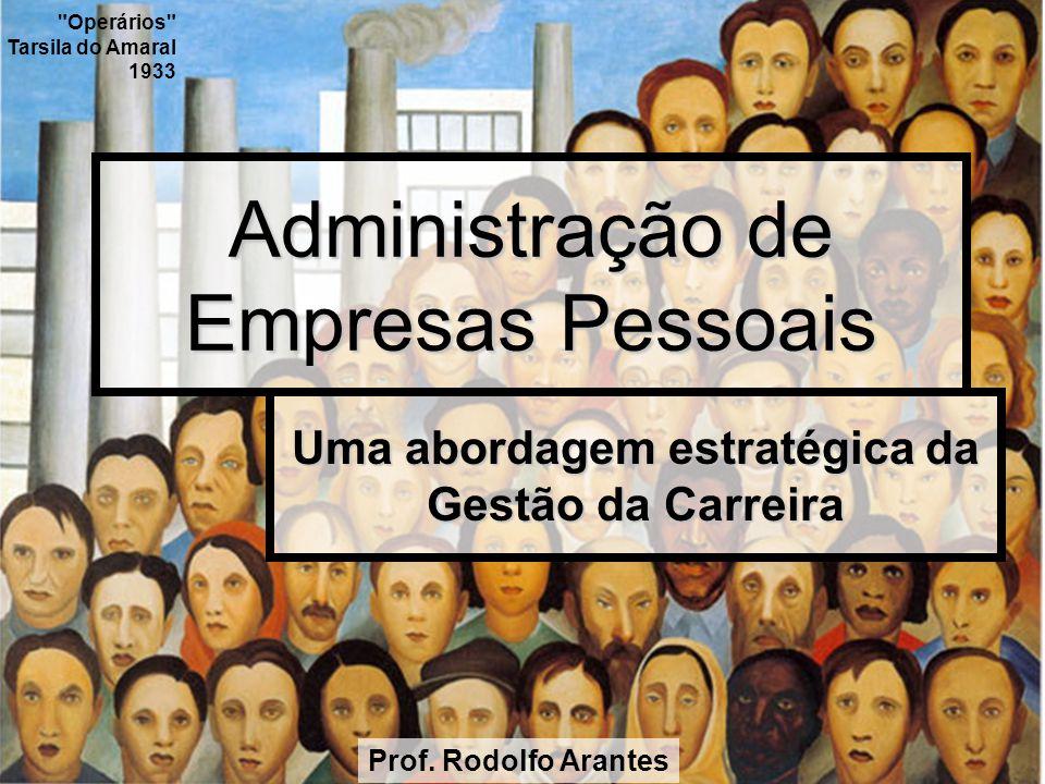 Administração de Empresas Pessoais Uma abordagem estratégica da Gestão da Carreira Prof. Rodolfo Arantes