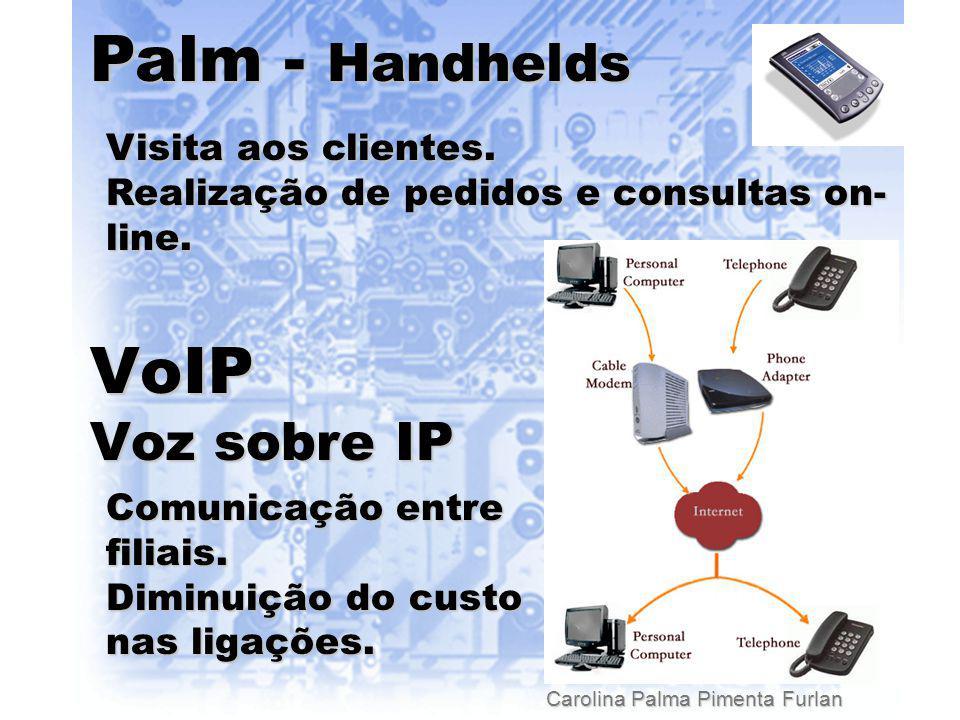 Carolina Palma Pimenta Furlan Palm - Handhelds VoIP Voz sobre IP Visita aos clientes.