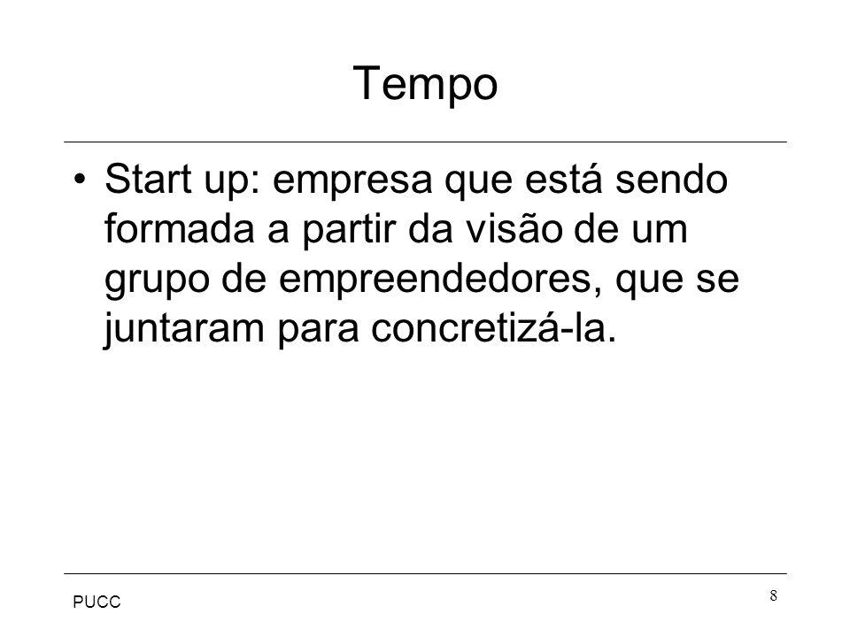 PUCC 8 Tempo Start up: empresa que está sendo formada a partir da visão de um grupo de empreendedores, que se juntaram para concretizá-la.