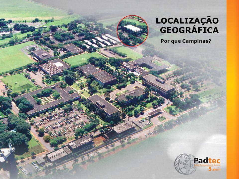 LOCALIZAÇÃO ESTRATÉGICA Cidade-sede do maior centro tecnológico da América Latina e um dos mais conceituados do mundo: o CPqD Proximidade com importantes universidades
