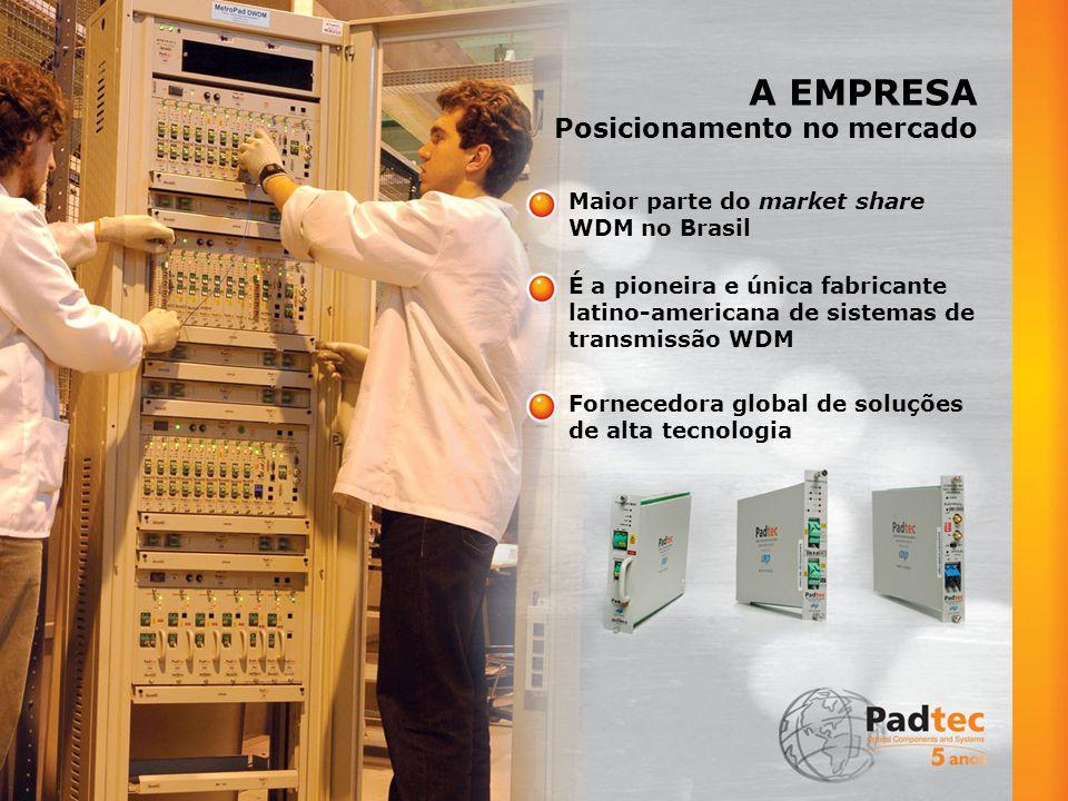 A EMPRESA Infra-estrutura (Nacional) Escritórios Comercias Sede: Rod.