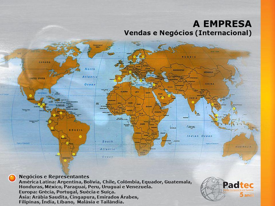 A EMPRESA Vendas e Negócios (Internacional) Negócios e Representantes América Latina: Argentina, Bolívia, Chile, Colômbia, Equador, Guatemala, Honduras, México, Paraguai, Peru, Uruguai e Venezuela.