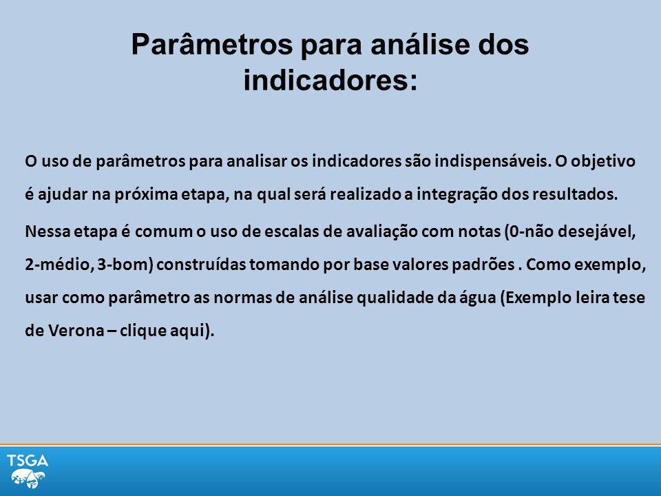 Parâmetros para análise dos indicadores: O uso de parâmetros para analisar os indicadores são indispensáveis. O objetivo é ajudar na próxima etapa, na