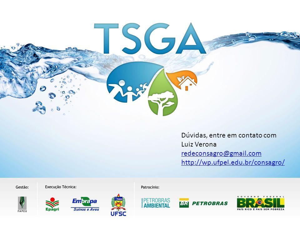 AGRADECEMOS A SUA PARTICIPAÇÃO !!! Dúvidas, entre em contato com Luiz Verona redeconsagro@gmail.com http://wp.ufpel.edu.br/consagro/