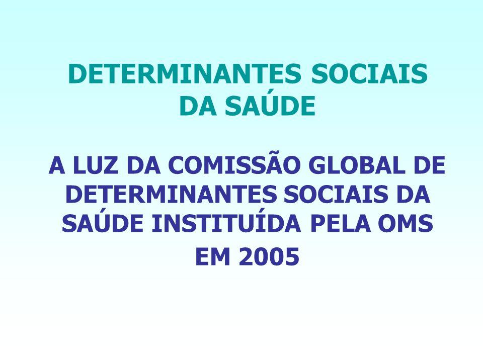 DETERMINANTES SOCIAIS DA SAÚDE A LUZ DA COMISSÃO GLOBAL DE DETERMINANTES SOCIAIS DA SAÚDE INSTITUÍDA PELA OMS EM 2005