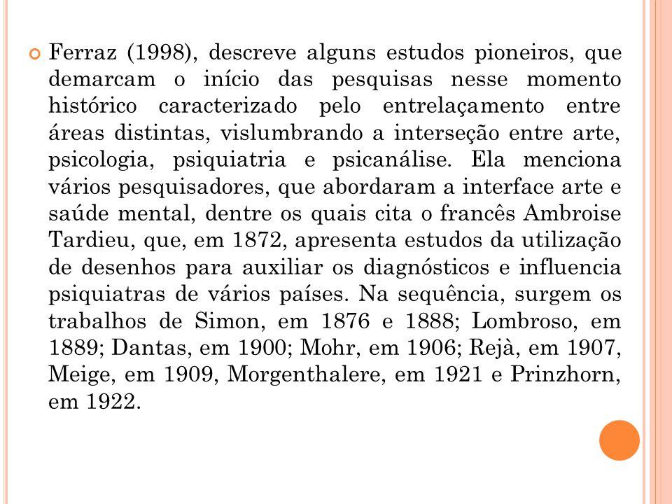 Ferraz (1998), descreve alguns estudos pioneiros, que demarcam o início das pesquisas nesse momento histórico caracterizado pelo entrelaçamento entre