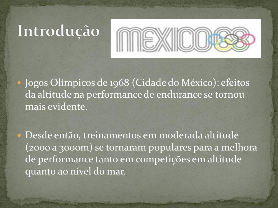 Jogos Olímpicos de 1968 (Cidade do México): efeitos da altitude na performance de endurance se tornou mais evidente. Desde então, treinamentos em mode