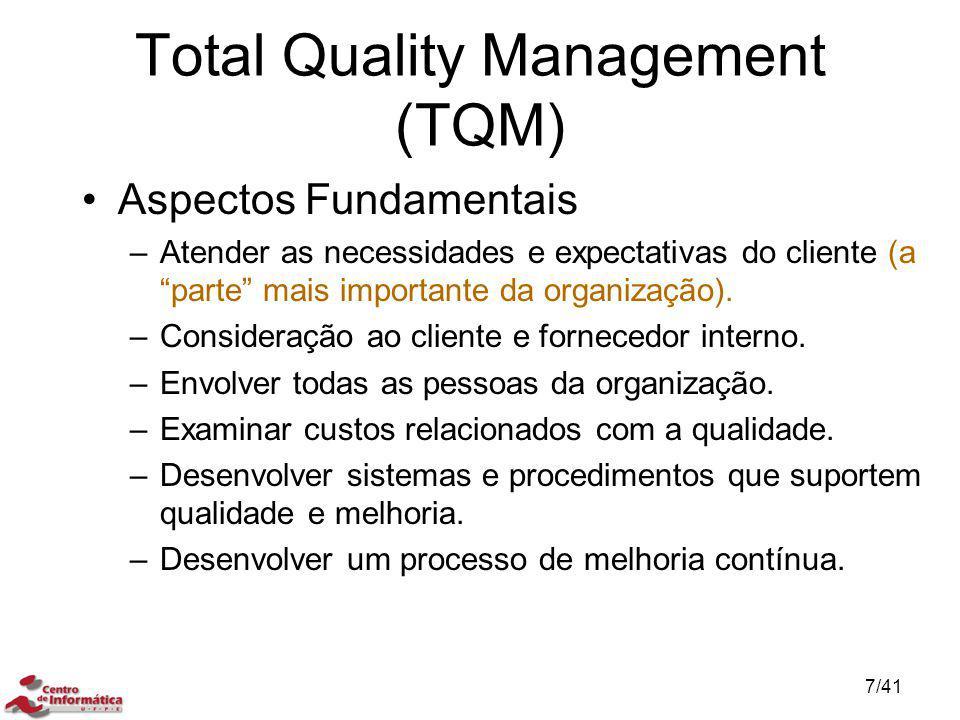 """Aspectos Fundamentais –Atender as necessidades e expectativas do cliente (a """"parte"""" mais importante da organização). –Consideração ao cliente e fornec"""
