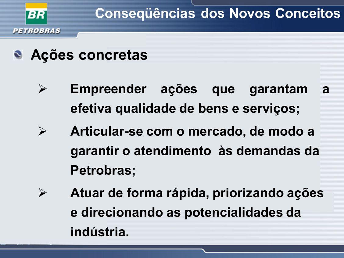 Conseqüências dos Novos Conceitos  Empreender ações que garantam a efetiva qualidade de bens e serviços;  Articular-se com o mercado, de modo a gara