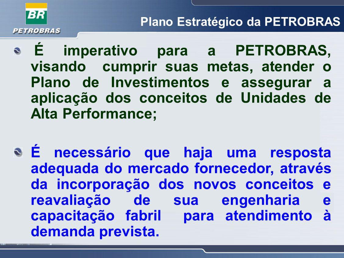 Plano Estratégico da PETROBRAS É imperativo para a PETROBRAS, visando cumprir suas metas, atender o Plano de Investimentos e assegurar a aplicação dos
