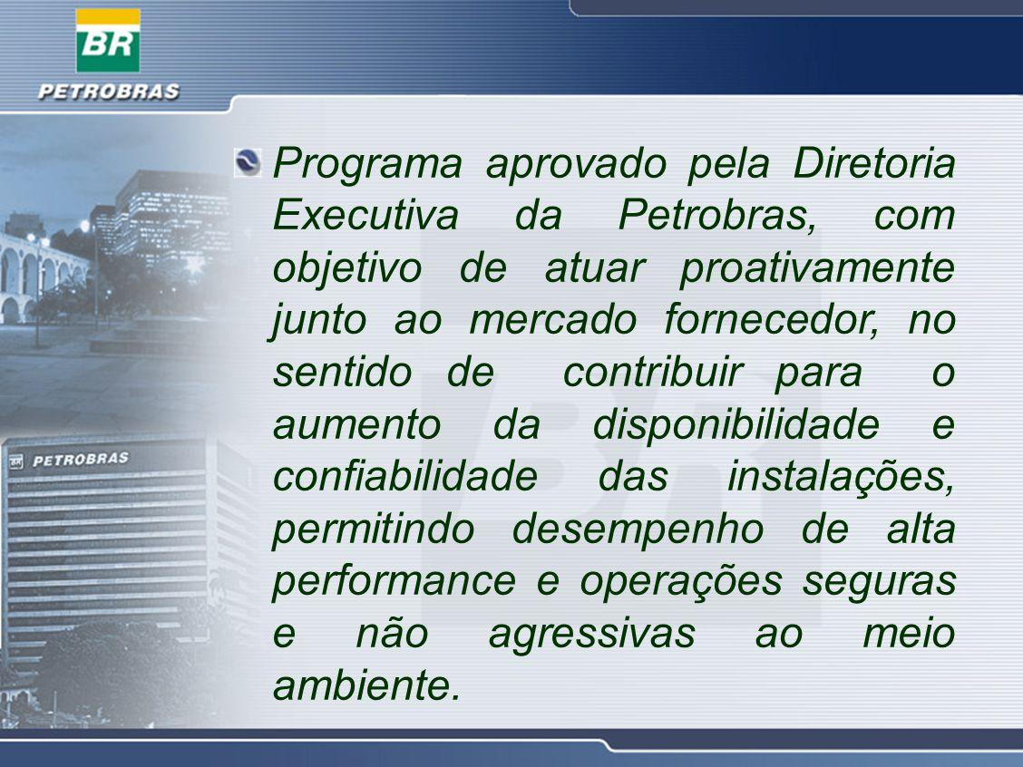 Programa aprovado pela Diretoria Executiva da Petrobras, com objetivo de atuar proativamente junto ao mercado fornecedor, no sentido de contribuir par