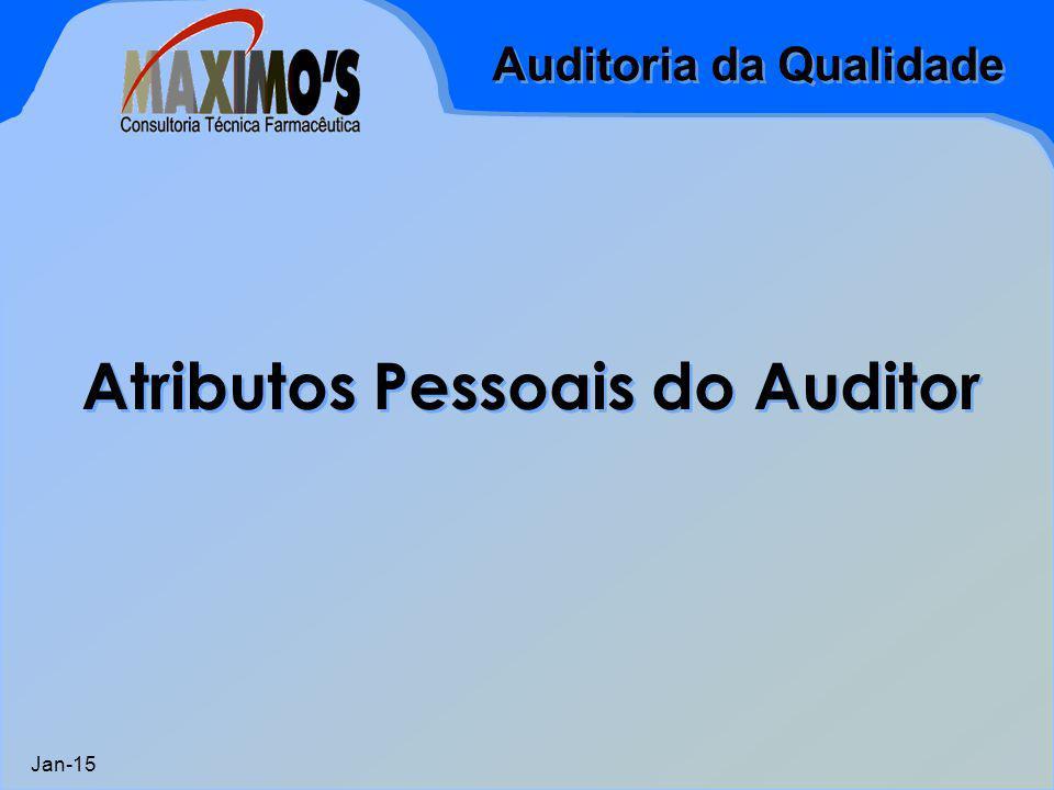 Auditoria da Qualidade Jan-15 Atributos Pessoais do Auditor