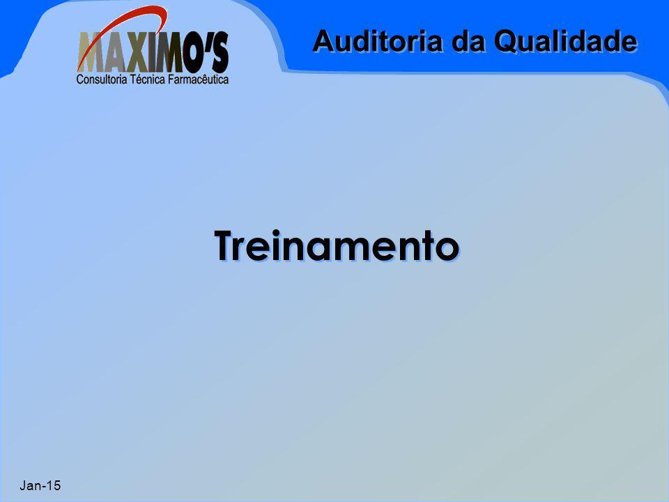 Auditoria da Qualidade Jan-15 Treinamento