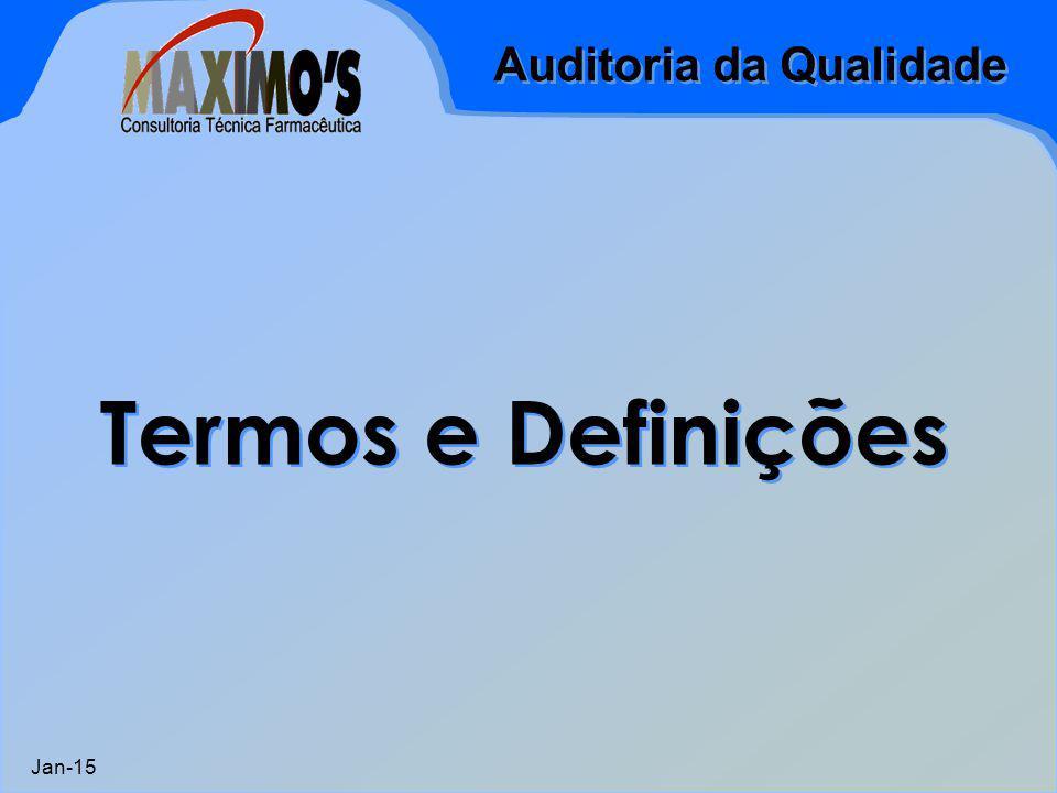 Auditoria da Qualidade Jan-15 1.Conhecimento e compreensão das normas nas quais se baseia a auditoria do sistema da qualidade; 2.Técnicas de análise de exames, questionários, avaliação e preparação de relatórios; 3.