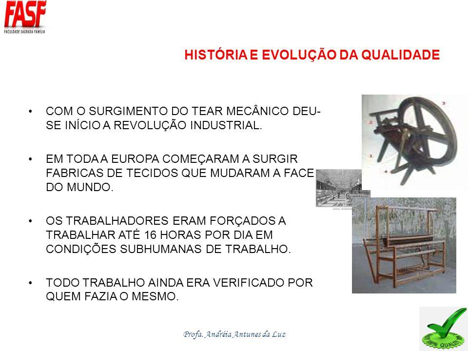 HISTÓRIA E EVOLUÇÃO DA QUALIDADE COM O SURGIMENTO DO TEAR MECÂNICO DEU- SE INÍCIO A REVOLUÇÃO INDUSTRIAL.