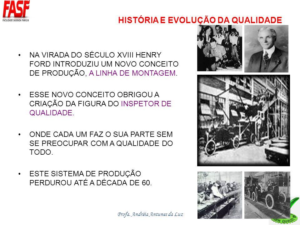 HISTÓRIA E EVOLUÇÃO DA QUALIDADE NA VIRADA DO SÉCULO XVIII HENRY FORD INTRODUZIU UM NOVO CONCEITO DE PRODUÇÃO, A LINHA DE MONTAGEM.