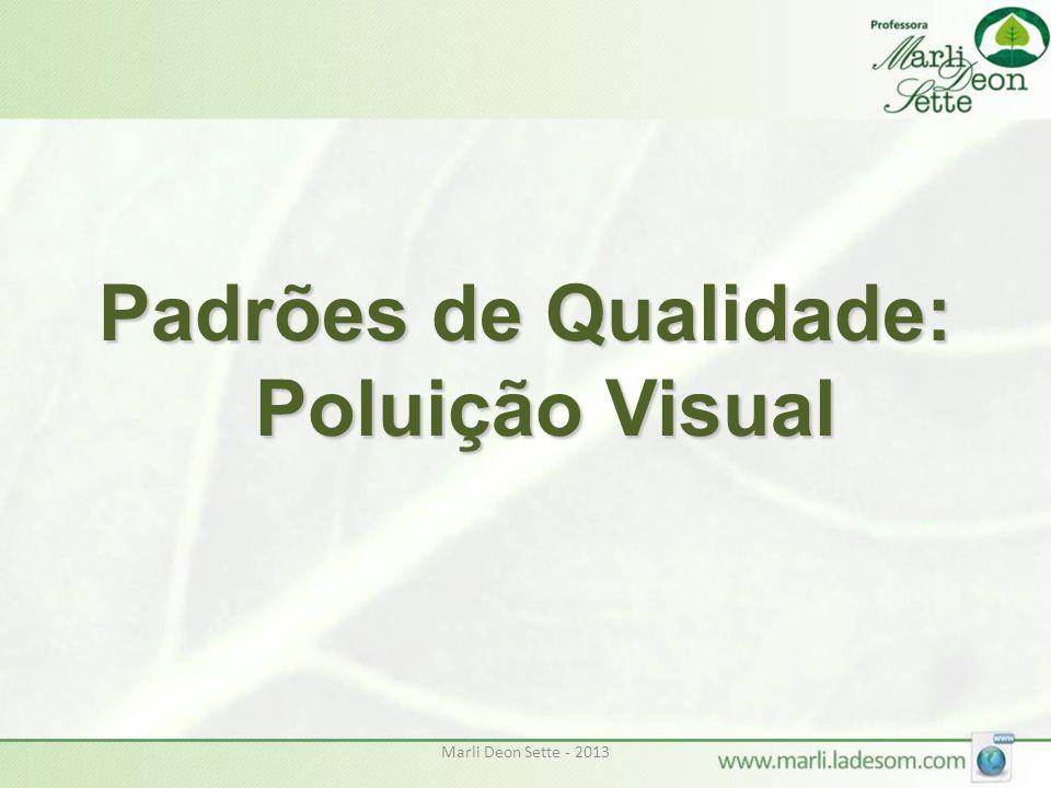 Marli Deon Sette - 2013 Padrões de Qualidade: Poluição Visual
