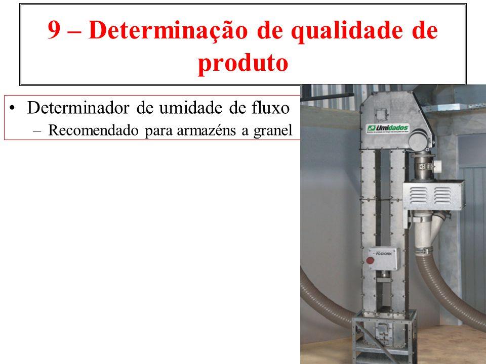 9 – Determinação de qualidade de produto Determinador de umidade de fluxo –Recomendado para armazéns a granel