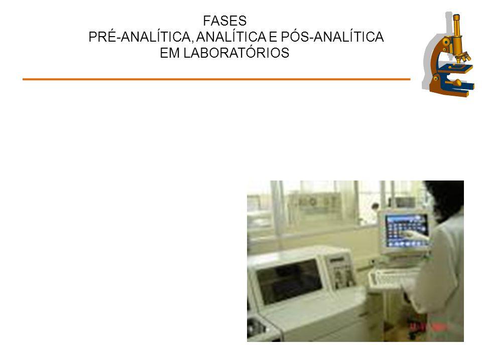REAGENTES E INSUMOS Insumos validados Rotulados: lote, datas de fabricação e validade, concentração, riscos, armazenamento...