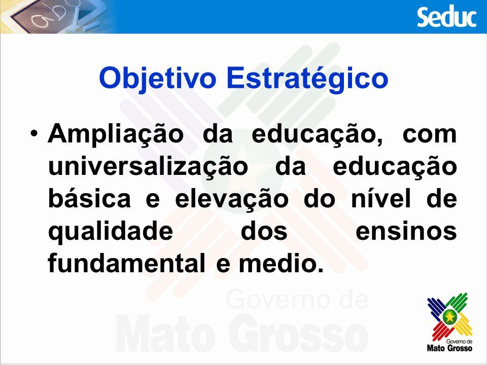 Programas estruturantes de Educação para Mato Grosso.