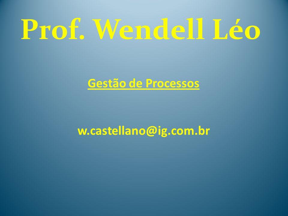 Gestão de Processos w.castellano@ig.com.br Prof. Wendell Léo