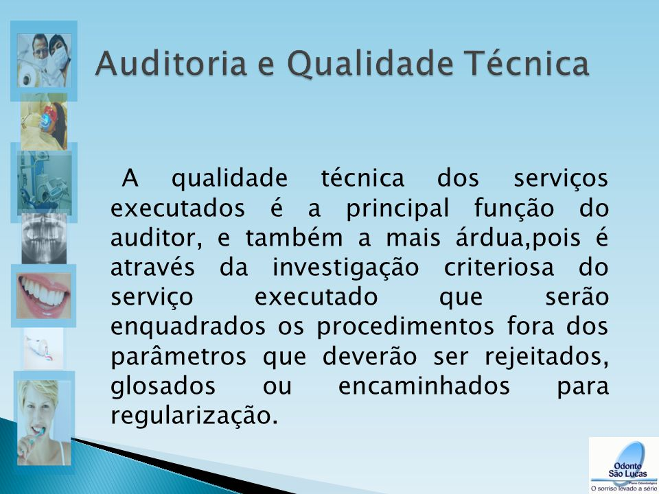 A qualidade técnica dos serviços executados é a principal função do auditor, e também a mais árdua,pois é através da investigação criteriosa do serviç