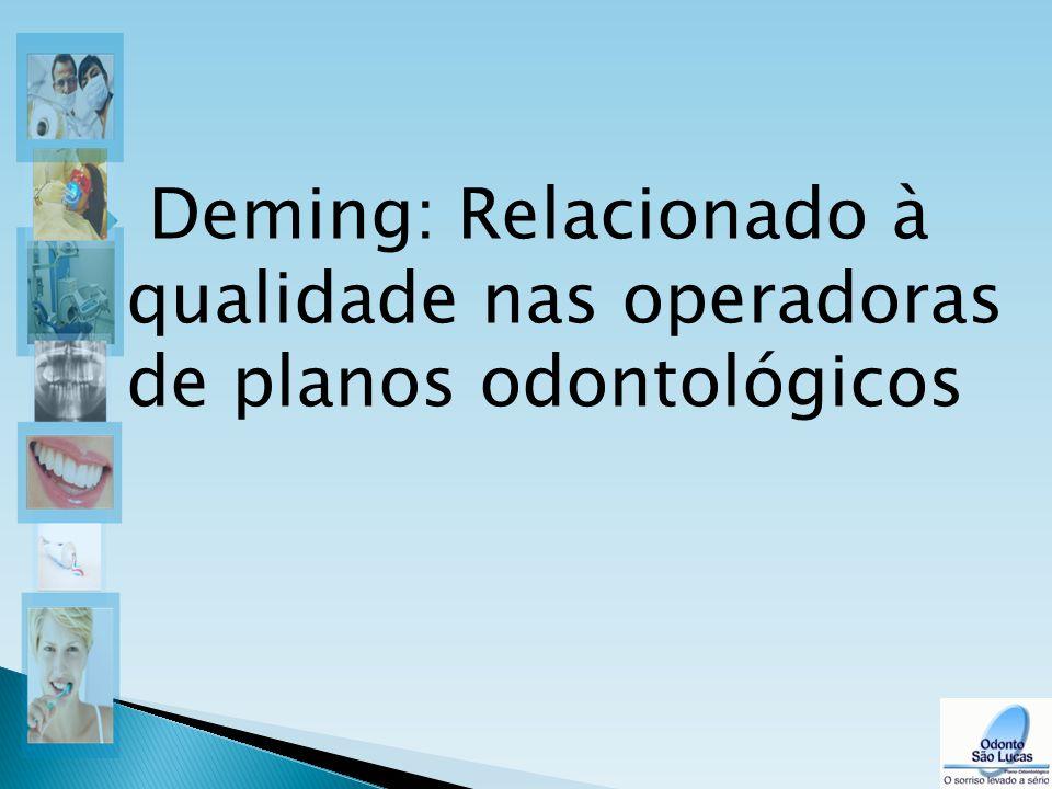  Deming: Relacionado à qualidade nas operadoras de planos odontológicos 8