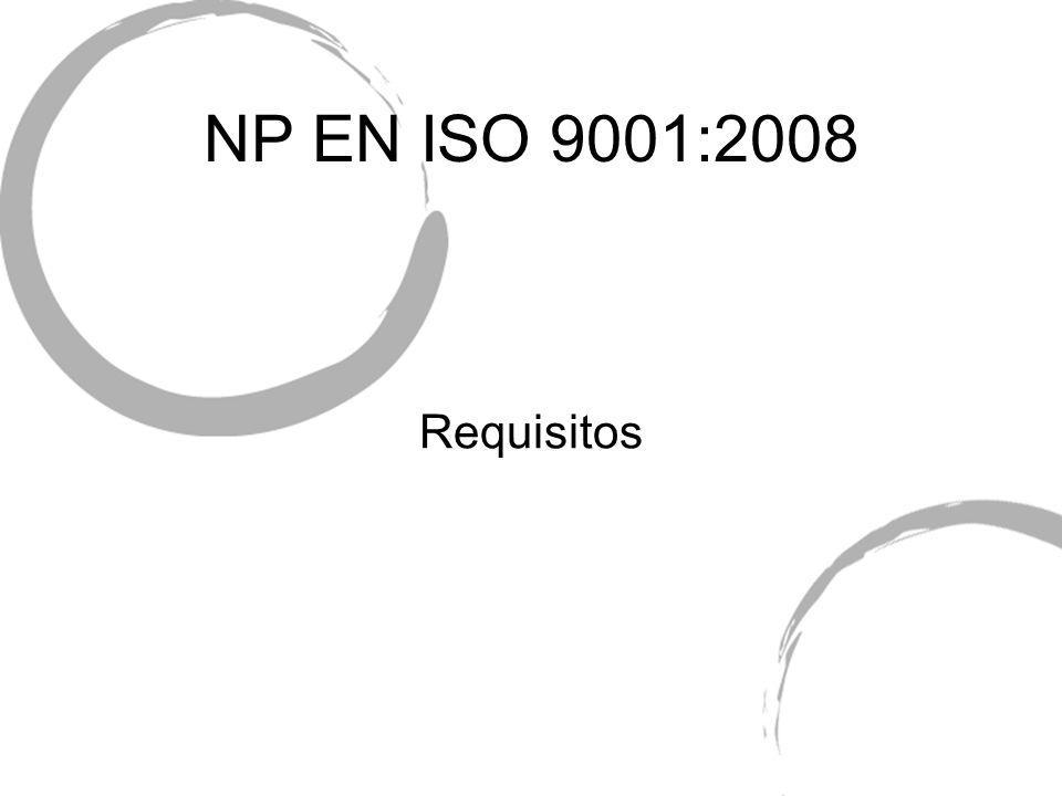 NP EN ISO 9001:2008 Requisitos