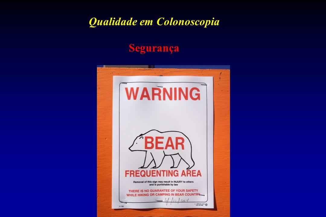 Qualidade em Colonoscopia Segurança