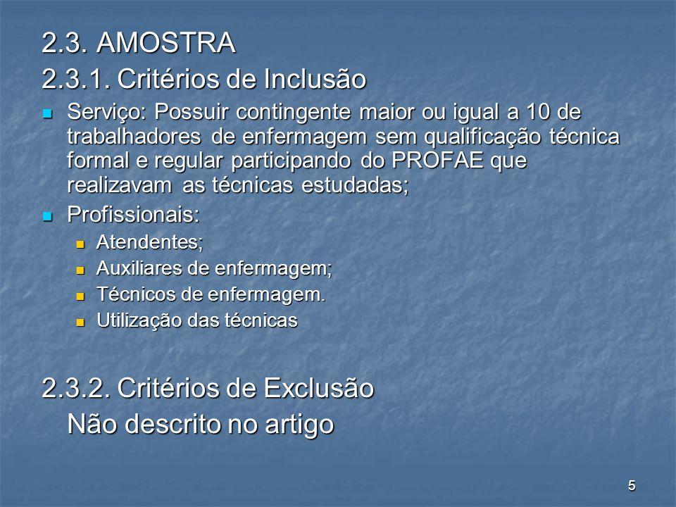 5 2.3. AMOSTRA 2.3.1.
