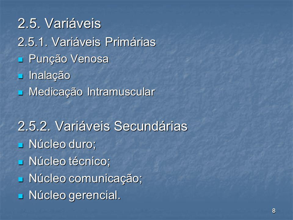 8 2.5. Variáveis 2.5.1.