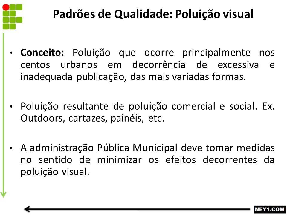 Conceito: Poluição que ocorre principalmente nos centos urbanos em decorrência de excessiva e inadequada publicação, das mais variadas formas. Poluiçã