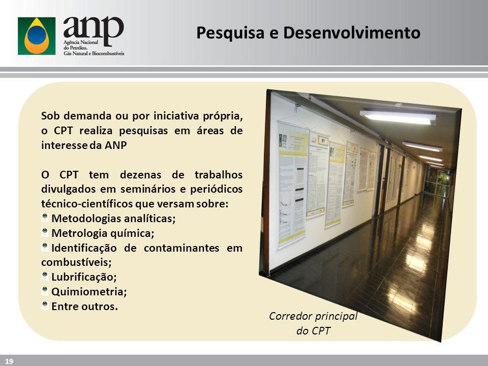 Sob demanda ou por iniciativa própria, o CPT realiza pesquisas em áreas de interesse da ANP O CPT tem dezenas de trabalhos divulgados em seminários e