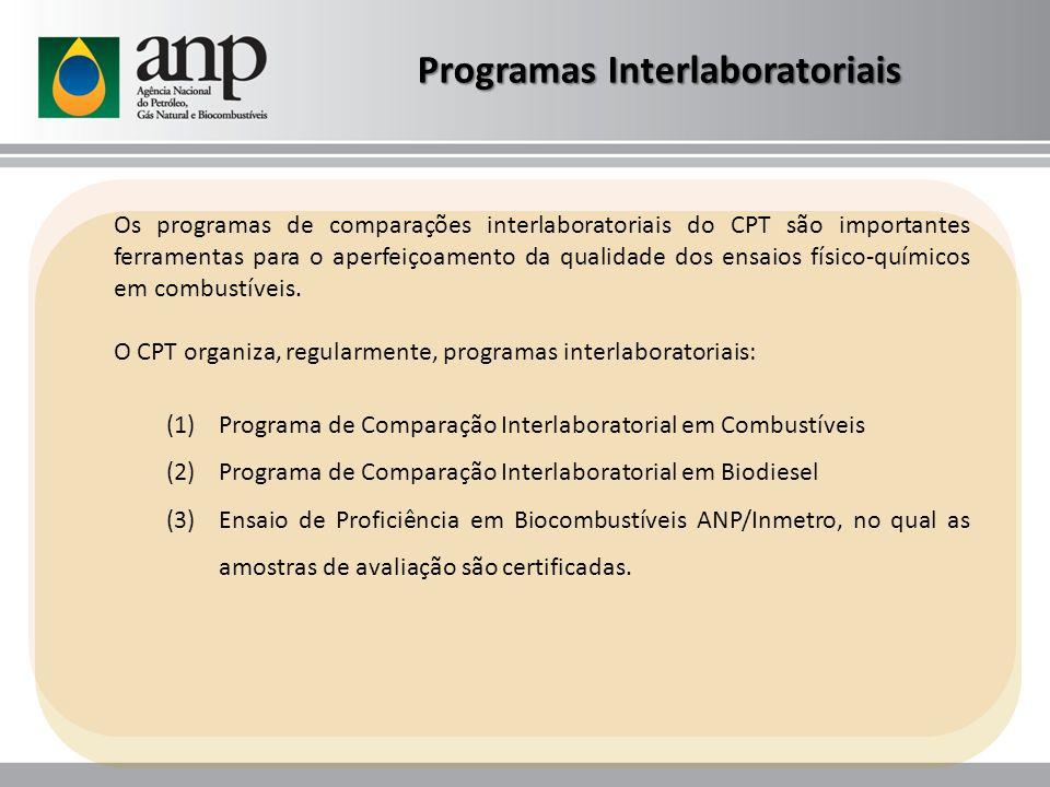 Os programas de comparações interlaboratoriais do CPT são importantes ferramentas para o aperfeiçoamento da qualidade dos ensaios físico-químicos em c