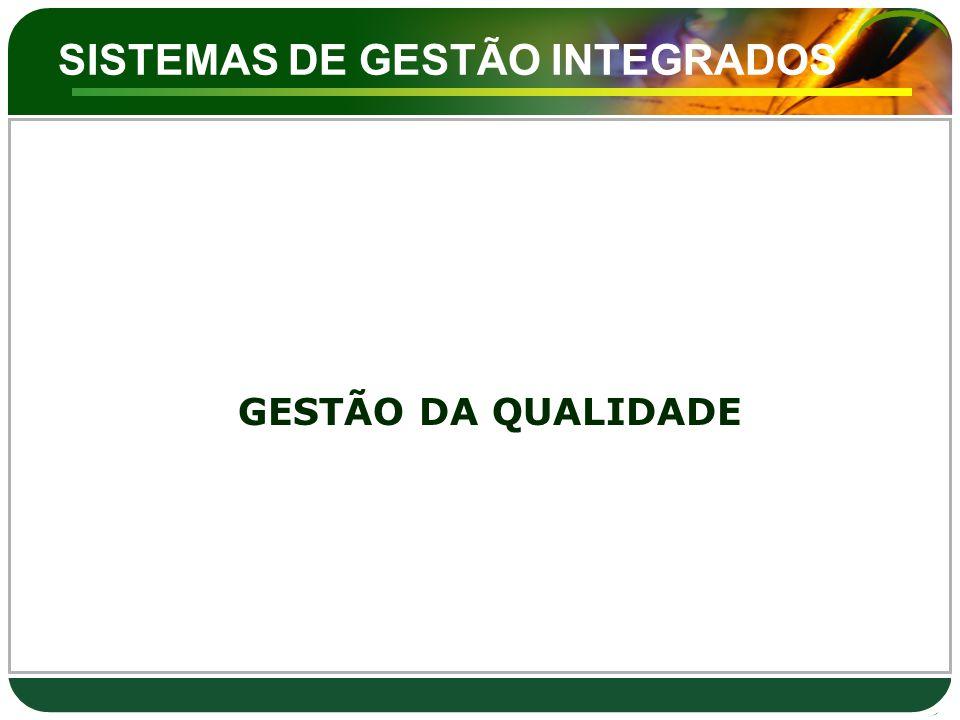 SISTEMAS DE GESTÃO INTEGRADOS GESTÃO DA QUALIDADE