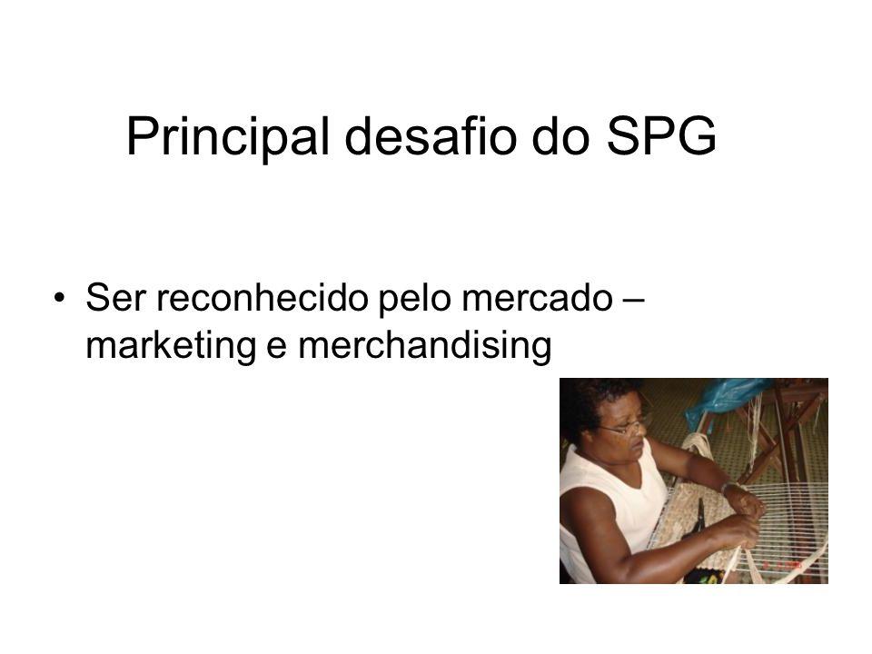 Principal desafio do SPG Ser reconhecido pelo mercado – marketing e merchandising
